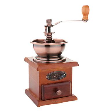 1pc Holz Kaffeemühle Manuell . 10.5*10.5*20.0