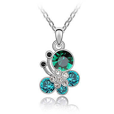 Beautiful Alloy With Austrian Crystal Butterfly Flying Women's Necklace (More Colors)