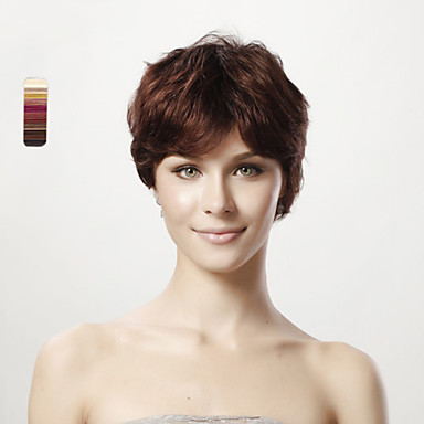 Wigs Classic Straight High Quality Dark Black Black Dark Brown #3 Medium Brown Daily