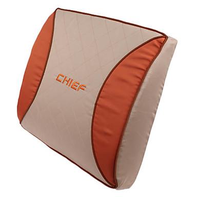 High Quality Car High Resilience Foam Lumbar Cushion,Orange Mood (1 Pair)