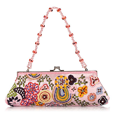 Elegante Baumwolle mit Multicolor Perlen Evening Handbag / Kupplungen (More Colors)