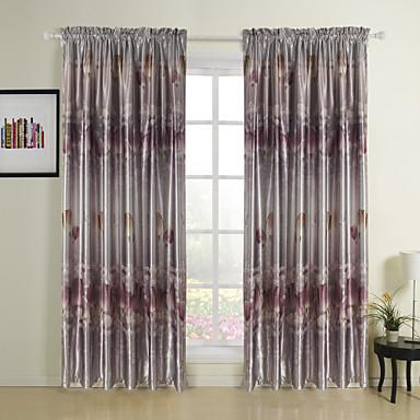 To paneler Vindue Behandling Land Soveværelse Polyester Materiale Mørklægningsgardin forhæng Hjem Dekoration For Vindue
