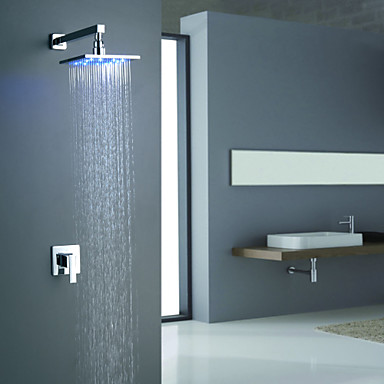 Contemporary  with  Chrome Single Handle Two Holes  for Wall Mount LED
