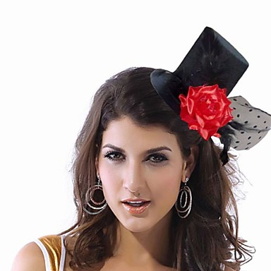 Elegant Nylon With Flower Women's Fascinators
