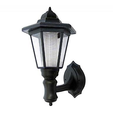 billige Utendørsbelysning-LED solenergi hage lys utendørs vanntett vegg lampe sekskantet lys utendørs belysning