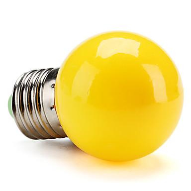 1pc 1 W 80 lm E26 / E27 LED Kugelbirnen G45 8 LED-Perlen SMD 2835 Dekorativ Gelb 220-240 V / RoHs