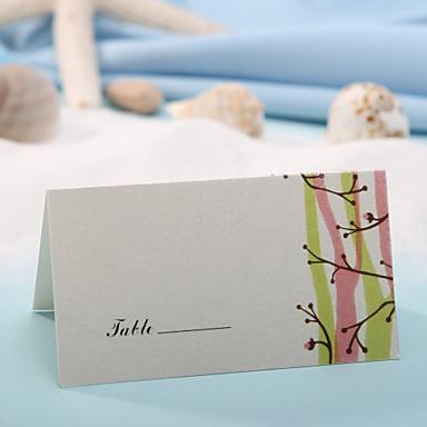 Yer kartları ve tutucuları yer kart - Bahar tomurcukları (12 set)