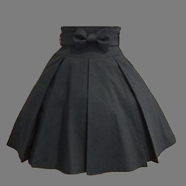 Fustă Clasic/Traditional Lolita lolita Cosplay Rochii Lolita Negru 纯色 Lungime medie Fustă Pentru Bumbac