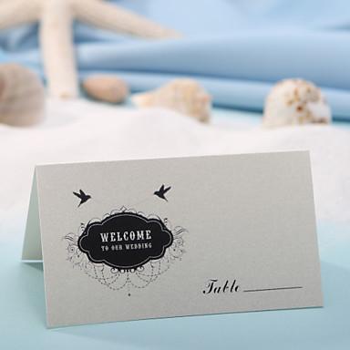 Tischkarte - schwarz und weiß (Set von 12) Hochzeitsempfang schön