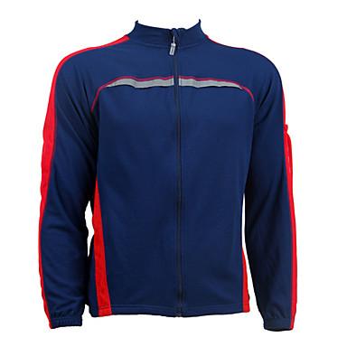 Jaggad-poliester țesătură jacheta de ciclism (albastru închis)