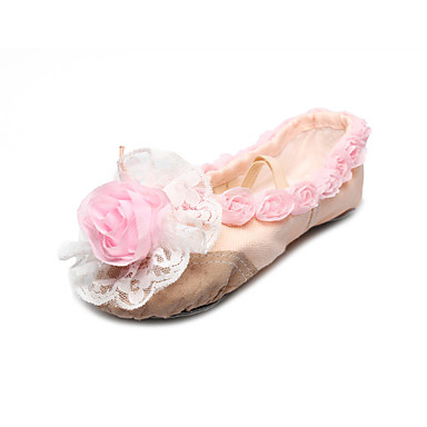e9a9dd671c0 χειροποίητα παπούτσια χορού καμβά split-η μοναδική παντόφλα μπαλέτο με  τριαντάφυλλο για τα παιδιά
