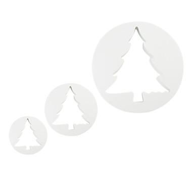 fondantă de tort DIY decorare pistonul tăietor de Crăciun temă arbore (3-Pack)