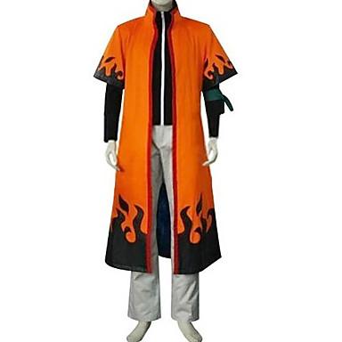 Ispirato da Naruto Naruto Uzumaki Anime Costumi Cosplay Abiti Cosplay Collage Manica lunga Cappotto Pantaloni Mantello Per Uomo