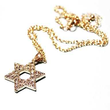 femmes collier pendentif en étoile