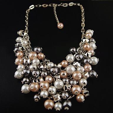ee56a37f4e32 Cadena de metal de la Mujer en capas collar de perlas 470977 2019 ...