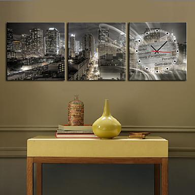 Modern/Zeitgenössisch Landschaften Wanduhr,Quadratisch Leinwand 12*12;16*16;20*20;24*24 Uhr