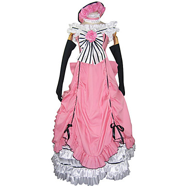 Inspirado por Black Butler Ciel Phantomhive Animé Disfraces de cosplay Trajes Cosplay / Vestidos Retazos Sin Mangas Vestido / Guantes / Lazo Para Hombre / Mujer