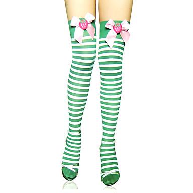 Strümpfe / Strumpfhosen Oberschenkellange Socken Niedlich Lolita Niedlich Lolita Damen Gestreift Streifen Strümpfe Nylon Halloween Kostüme / Hochelastisch