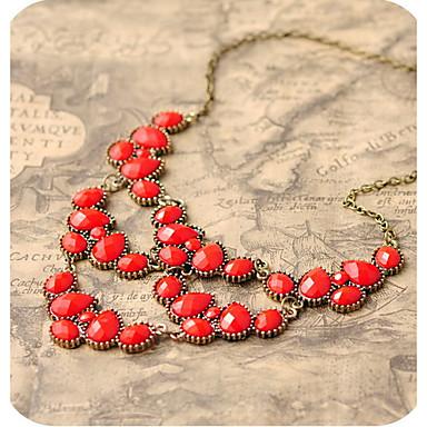 dámské slza klenot vintage bryndáček náhrdelník