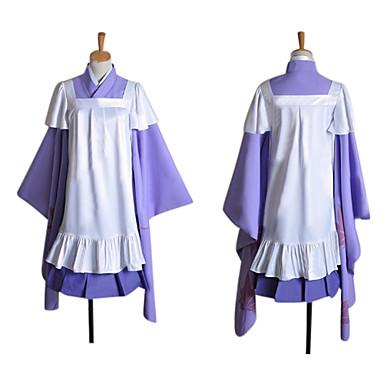 Esinlenen Vocaloid Megurine Luka Video oyun Cosplay Kostümleri Cosplay Takımları Kırk Yama Uzun Kollu Etek / Elbise / Başlık