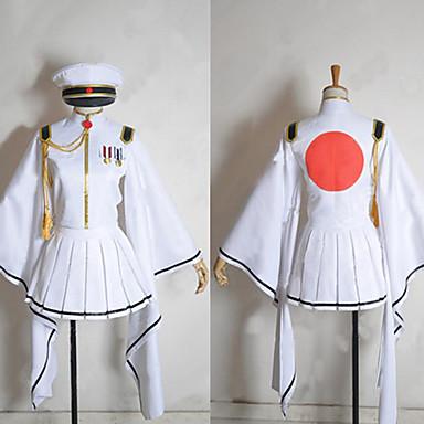 مستوحاة من Vocaloid Hatsune Miku فيديو لعبة أزياء Cosplay الدعاوى تأثيري / ثوب واسع فضفاض كم طويل معطف الالتفاف قفازات ازياء