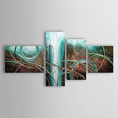 Hang-Painted öljymaalaus Maalattu - Abstrakti Moderni Perinteinen Kangas