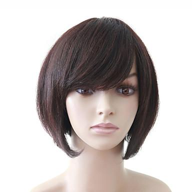 Synthetische Perücken / Menschliches Haar Capless Perücken Klassisch Stufenhaarschnitt Synthetische Haare Perücke / Wellen