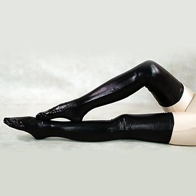 Sokker og Strømpebukser Ninja Zentai Cosplay-kostymer Hvit Svart Ensfarget Strømper Spandex Herre Dame Halloween
