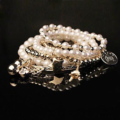 Mujeres diamante brazalete de perlas