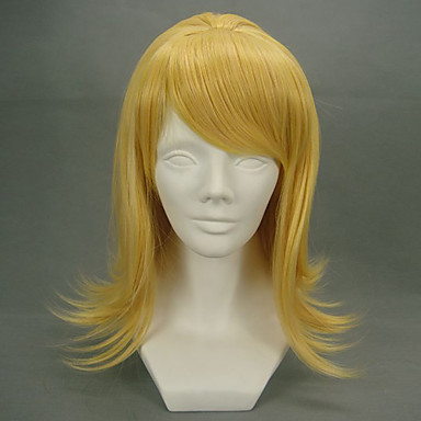 Vocaloid Kagamine Rin Naisten 18 inch Heat Resistant Fiber Anime Cosplay-Peruukit