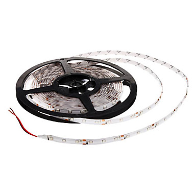 5m Esnek LED Şerit Işıklar 300 LED'ler Mavi Kesilebilir / Su Geçirmez 12 V / 3528 SMD / IP65