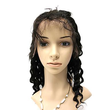 전체 레이스 18 인치 깊은 파 백퍼센트 브라질 머리 가발