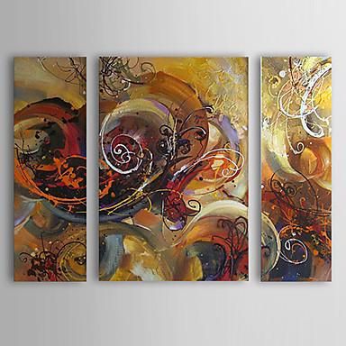 Ručně malované Abstraktní Horizontální Plátno Hang-malované olejomalba Home dekorace Tři panely