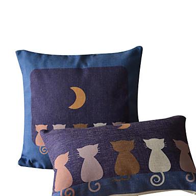 Conjunto de 2 Pacífica Noite fronha de algodão / linho decorativa
