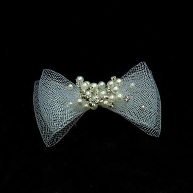 abordables Bijoux de Cheveux-tulle perles cheveux broche headpiece noce élégant style féminin