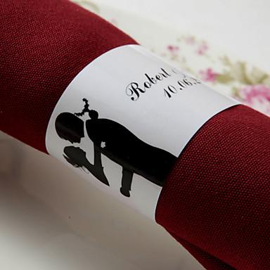 abordables Serviettes de Mariage-Serviettes de mariage - 50pcs Ronds de serviettes Mariage Anniversaire Soirée de Fiançailles Enterrement de Vie de Jeune Fille Thème