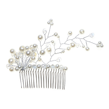 Women's Alloy Imitation Pearl Headpiece-Wedding Special Occasion Hair Combs