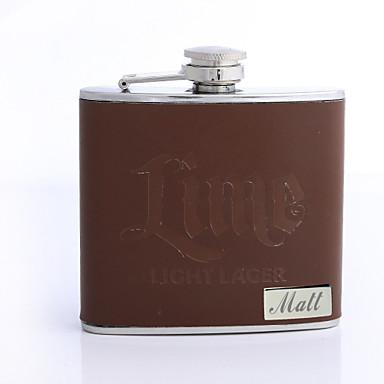 Personalizate cadouri Brown 5 uncii PU Flask piele