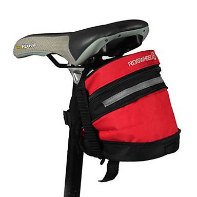 ROSWHEEL exterior MTB Ciclismo alforje com Bolsa Ferramenta (preto e vermelho) 21.038