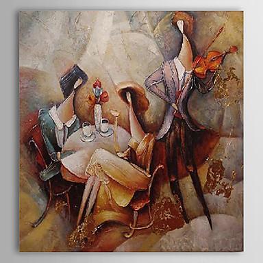 Pictat manual Abstract / Oameni Un Panou Canava Hang-pictate pictură în ulei For Pagina de decorare