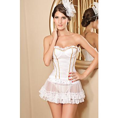 Blanc Top Sexy Halter Off-the-shoulder (Longueur: 48cm Buste :86-102cm Tour de taille :58-79cm)