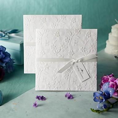 Unpersonalisierte Seitlich gefaltet Hochzeits-Einladungen Musterexemplar einer Einladung-1 Stück / Set Vintage Stil / Geblühmter Style