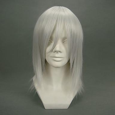 ファイナルファンタジー カダージュ 男性用 16 インチ 耐熱繊維 アニメ系 コスプレウィッグ