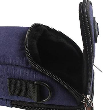 poliester ripstop căptușit de protecție geantă de transport moale sac cu cârlige de subțire aparat foto digital card - albastru