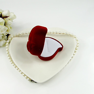 Heart Shaped Flannelette Women's Jewelry Box