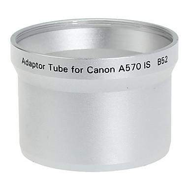 52mm Lens og Filter Adapter Tube til Canon A570 IS B52 Silver