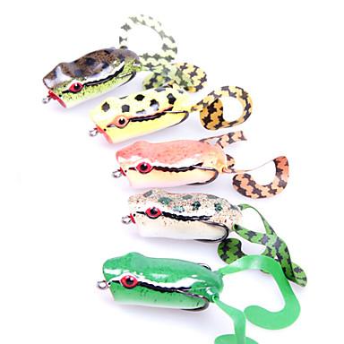 1 buc Momeală moale Δόλωμα Momeală moale Broască Verde Portocaliu Galben g/Uncie mm inch,Plastic moale Pescuit mare Pescuit de Apă Dulce