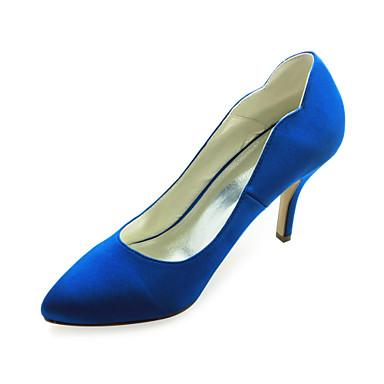 Women's Wedding Shoes Heels Heels Wedding Black/Blue/Pink/Purple/Red/Ivory/White/Silver/Gold/Champagne