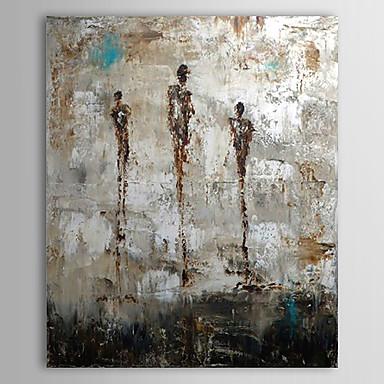 Pictat manual Abstract Vertical, Clasic Tradițional Hang-pictate pictură în ulei Pagina de decorare Un Panou