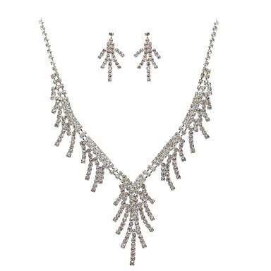 Kadın's Temiz Takı Seti - Dahil etmek Gümüş Uyumluluk Düğün Parti Yıldönümü / Doğumgünü / Nişan / Hediye